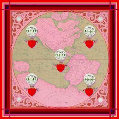WGD Pink Africa Silk Scarf